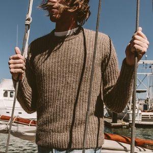 TAYLOR STITCH Whaler Tan Wool Sweater
